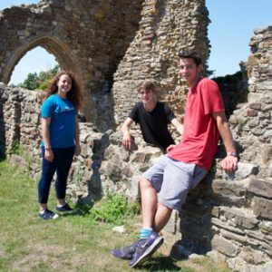 Embassy Hastings students at Hastings Castle.